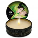 SHUNGA MINI CARESS BY CANDELIGHT VELA MASAJE TÉ VERDE 30ML - Imagen 1